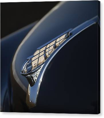 Vintage Plymouth Hood Ornament Canvas Print by Carol Leigh