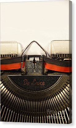 Vintage Typewriter Canvas Print by Jill Battaglia