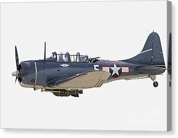 Vintage World War II Dive Bomber Canvas Print by Kevin McCarthy