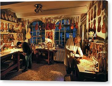Violin-making Workshop Canvas Print by Patrick Landmann