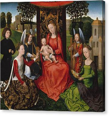 Virgin And Child Canvas Print by Hans Memling