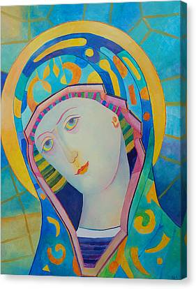 Russian Icon Canvas Print - Virgin Mary Immaculate Conception. Religious Painting. Modern Catholic Icon by Magdalena Walulik