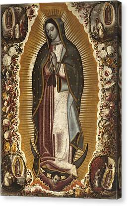 Virgin Of Guadalupe Canvas Print by Celestial Images