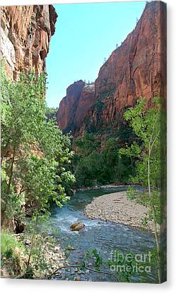 Canvas Print featuring the photograph Virgin River Rapids by Jemmy Archer
