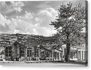 Virginia City Montana Ghost Town Canvas Print by Daniel Hagerman