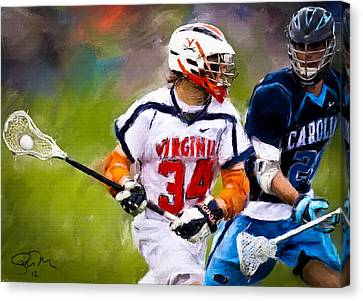 College Lacrosse 6 Canvas Print by Scott Melby