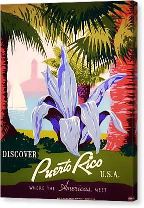 Visit Puerto Rico 1938 Canvas Print by Mountain Dreams