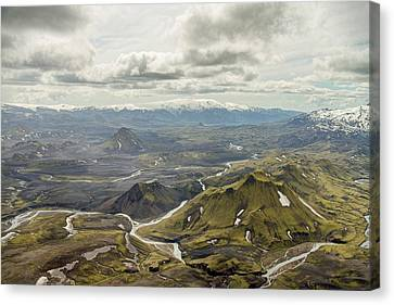 Volcano Valley In Iceland Canvas Print by For Ninety One Days