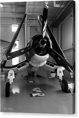 Canvas Print featuring the photograph Vought Fg-1d Corsair by Rebecca Davis