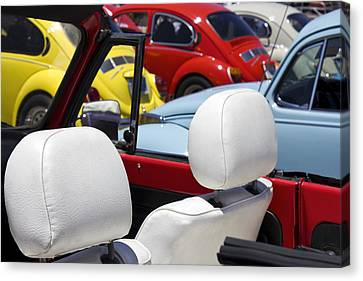 Vw Beetles And Seats Canvas Print