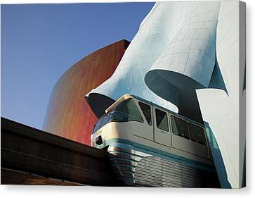Wa, Seattle, Seattle Center, Monorail Canvas Print