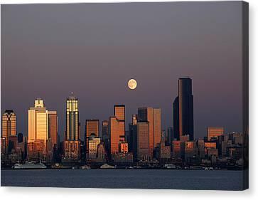Wa, Seattle, Seattle Skyline Canvas Print by Jamie and Judy Wild