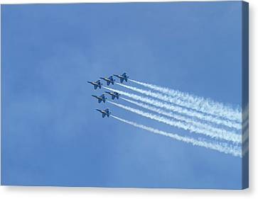 Wa, Seattle, The Blue Angels Canvas Print by Jamie and Judy Wild