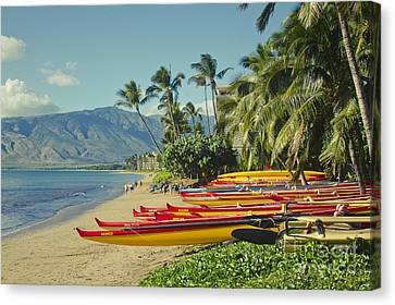 Kenolio Beach Sugar Beach Kihei Maui Hawaii  Canvas Print