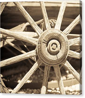 Wagon Wheels Canvas Print - Wagon Wheel by Gilbert Artiaga