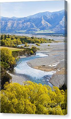 Braids Canvas Print - Waiau River Hanmer Springs New Zealand by Colin and Linda McKie