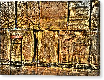 Canvas Print featuring the photograph Wailing Wall by Doc Braham