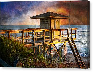 Waiting For Customers Canvas Print by Debra and Dave Vanderlaan