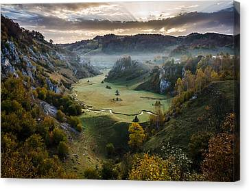 Waiting For The Sunrise Canvas Print by Catalin Pomeanu