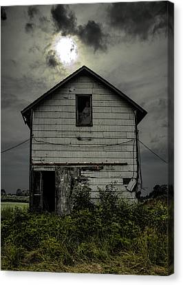 Haunted House Canvas Print - Waiting by John Crothers