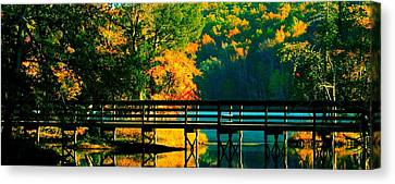 Canvas Print featuring the photograph Walkway by Steve Godleski
