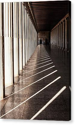 Walkway With Columns, Ancient Agora Canvas Print