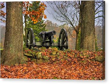 Canvas Print featuring the photograph War Thunder - The Charlotte North Carolina Artillery Grahams Battery West Confederate Ave Gettysburg by Michael Mazaika
