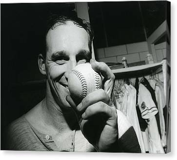 Old Pitcher Canvas Print - Warren Spahn by Retro Images Archive