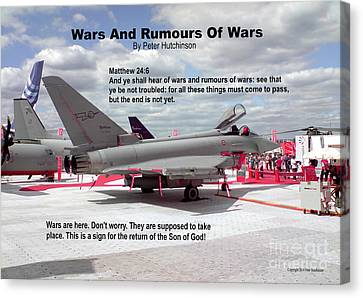 Wars And Rumours Of Wars Canvas Print by Bible Verse Pictures