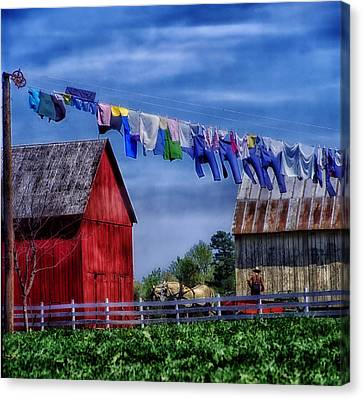 Wash Day Canvas Print by Mountain Dreams