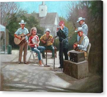 Canvas Print - Washboard Music by Janet McGrath