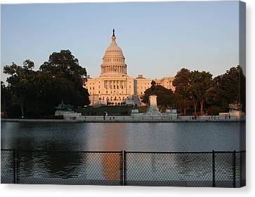 Washington Dc - Us Capitol - 011311 Canvas Print by DC Photographer
