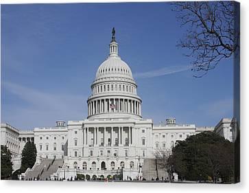 Washington Dc - Us Capitol - 01138 Canvas Print by DC Photographer