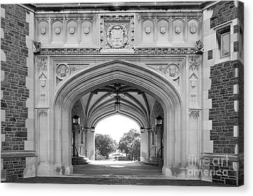 Washington University Brookings Hall Canvas Print by University Icons