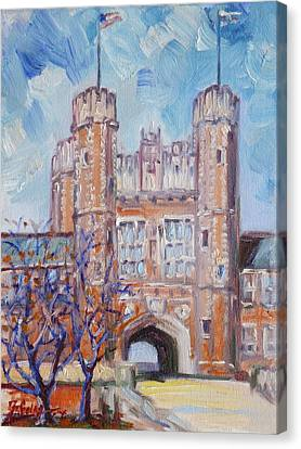 Washington University - St.louis Canvas Print by Irek Szelag
