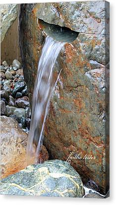 Water And Rocks II Canvas Print by E Faithe Lester