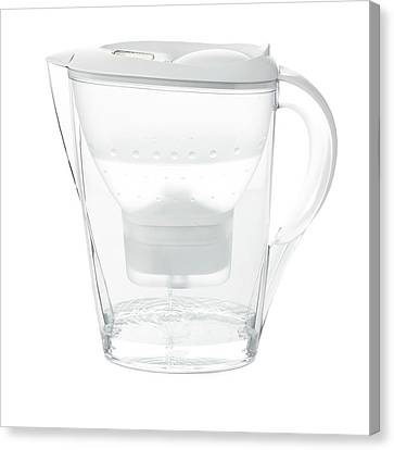 Water Filter Canvas Print - Water Filter Jug by Science Photo Library