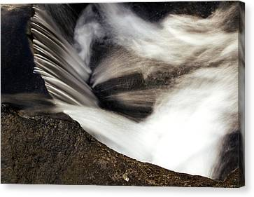 Water Flow Canvas Print by Les Cunliffe