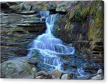 Water In Flow Motion Canvas Print by Douglas Miller