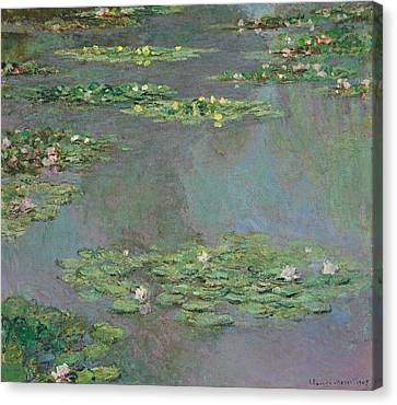 Water Lilies   Nympheas Canvas Print by Claude Monet