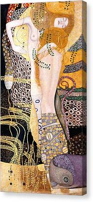 Water Serpents I Canvas Print by Gustav Klimt