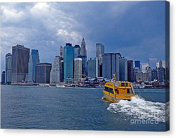 Water Taxi Canvas Print by Bruce Bain