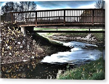 Canvas Print featuring the photograph Water Under The Bridge by Deborah Klubertanz