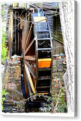 Canvas Print featuring the photograph Water Wheel by Tara Potts