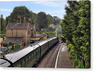 Watercress Line Alresford Canvas Print by Joana Kruse