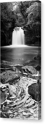 Autumn Leaf On Water Canvas Print - Waterfall In A Forest, Thomason Foss by Panoramic Images