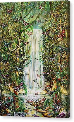 Waterfall Of Prosperity II Canvas Print