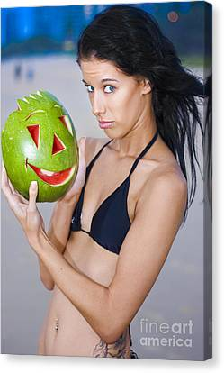 Watermelon Humor Canvas Print by Jorgo Photography - Wall Art Gallery