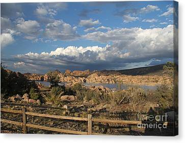 Watson Lake  Canvas Print by Diane Greco-Lesser