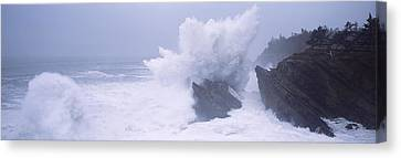 Waves Breaking On The Coast, Shore Canvas Print